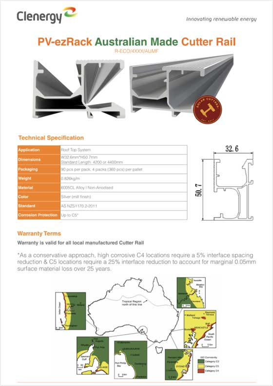 PV-ezRack® Cutter Rail
